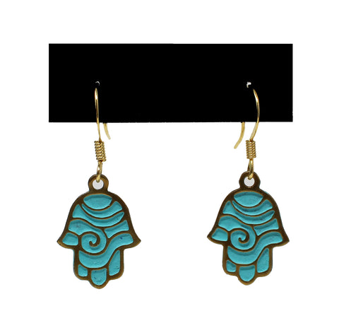 Israeli Hamsa Earrings