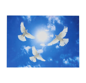 Three White Doves Circling Card