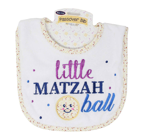 Little Matzah Ball Passover Bib