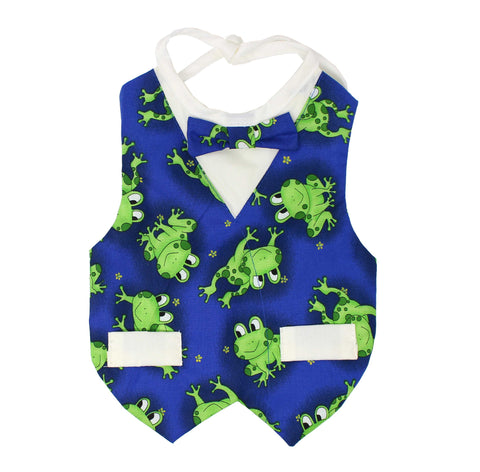 Frog Bib for Baby Boy
