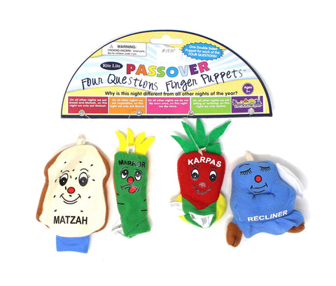 Passover Four Questions Finger Puppets