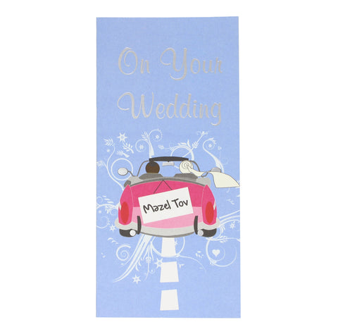 Wedding Money Card with Red Car
