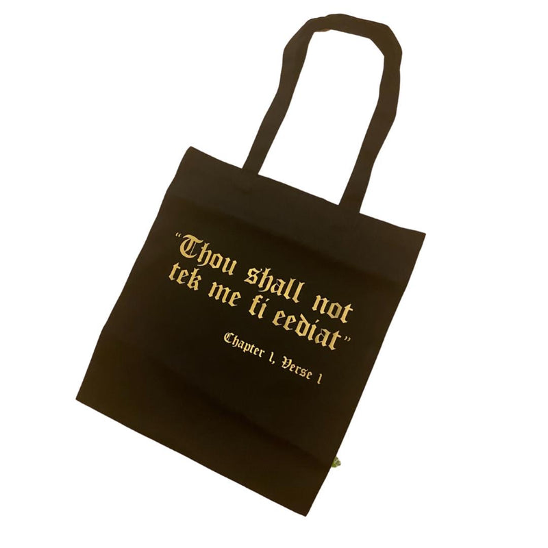 THOU SHALL NOT TOTE BAG