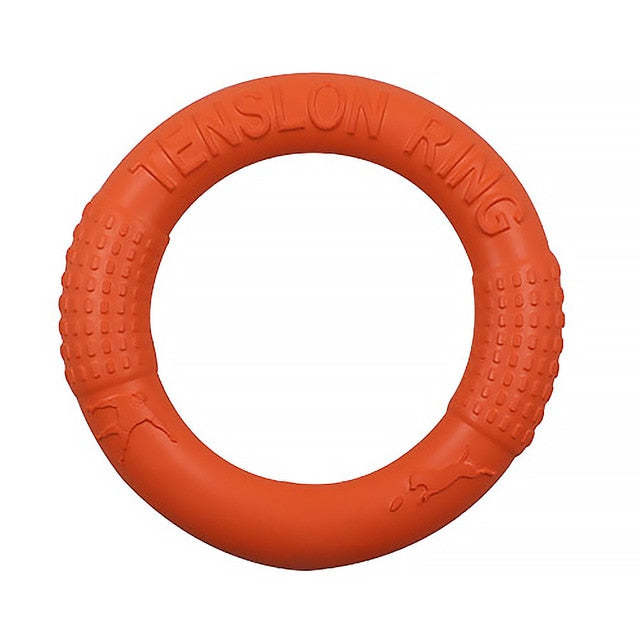 Flying disc tug toy