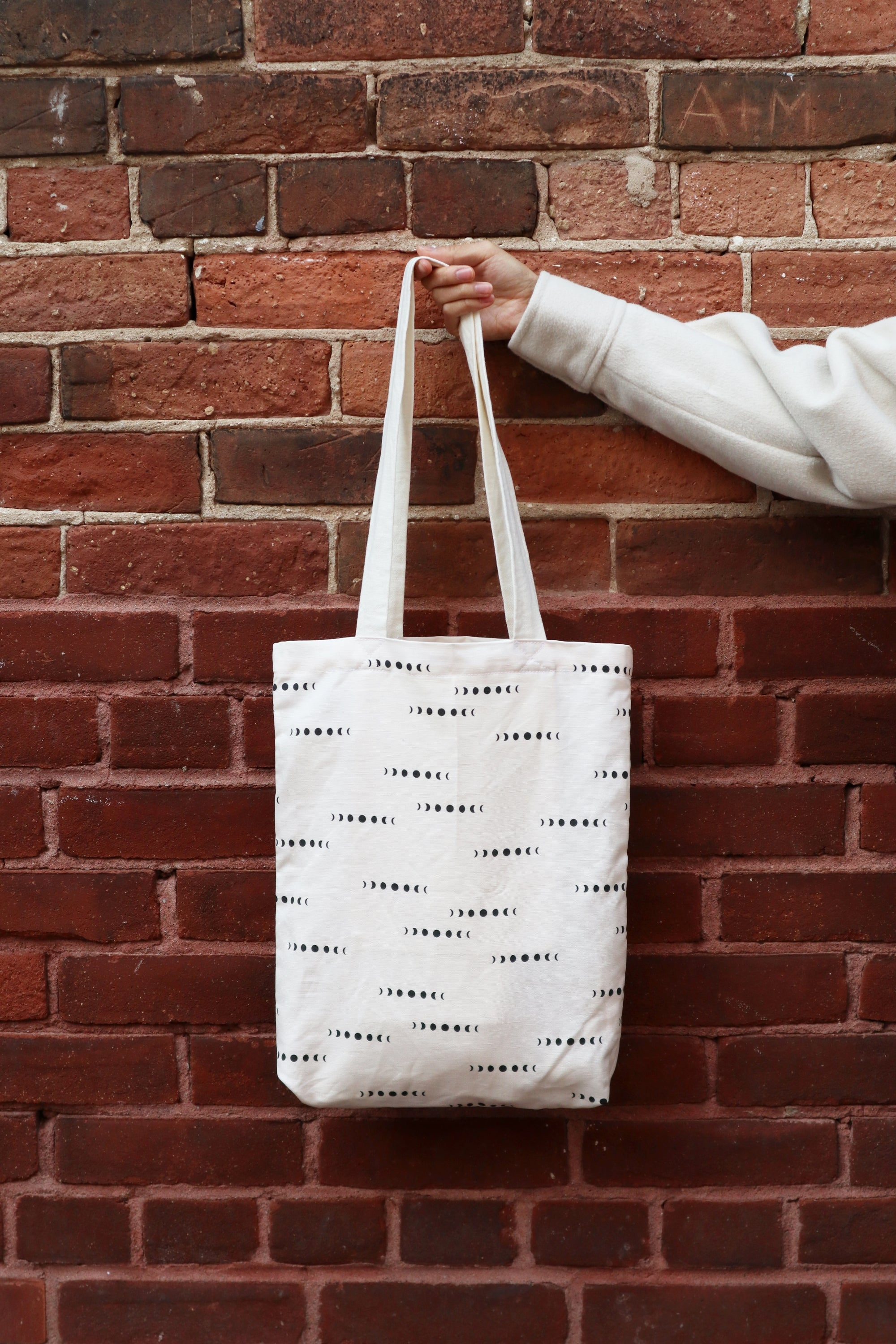 Canvas Tote Bag | Moons & Beige