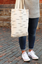 Load image into Gallery viewer, Canvas Tote Bag | Moons & Beige