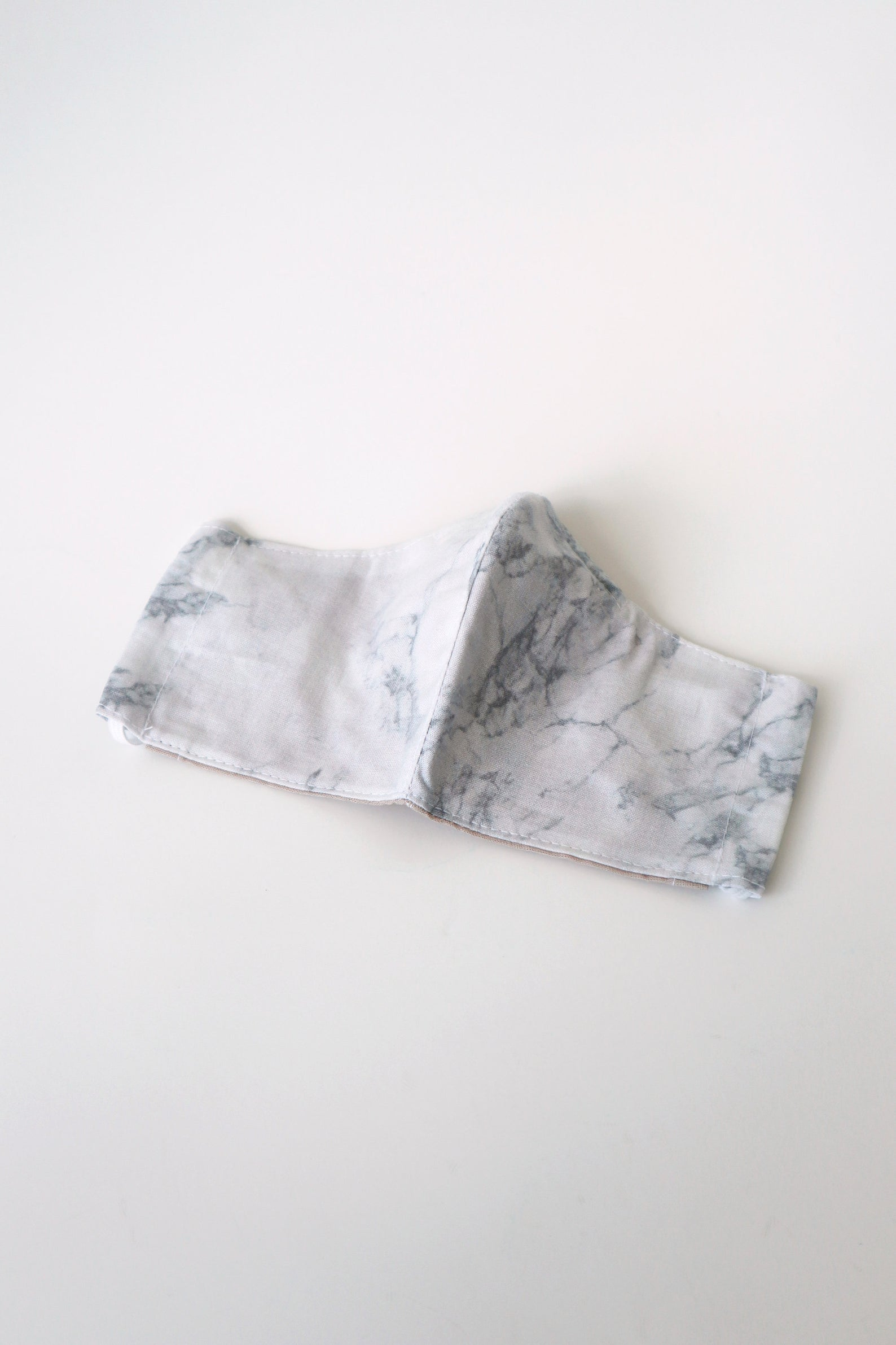 Grey Marble Cotton Face Mask