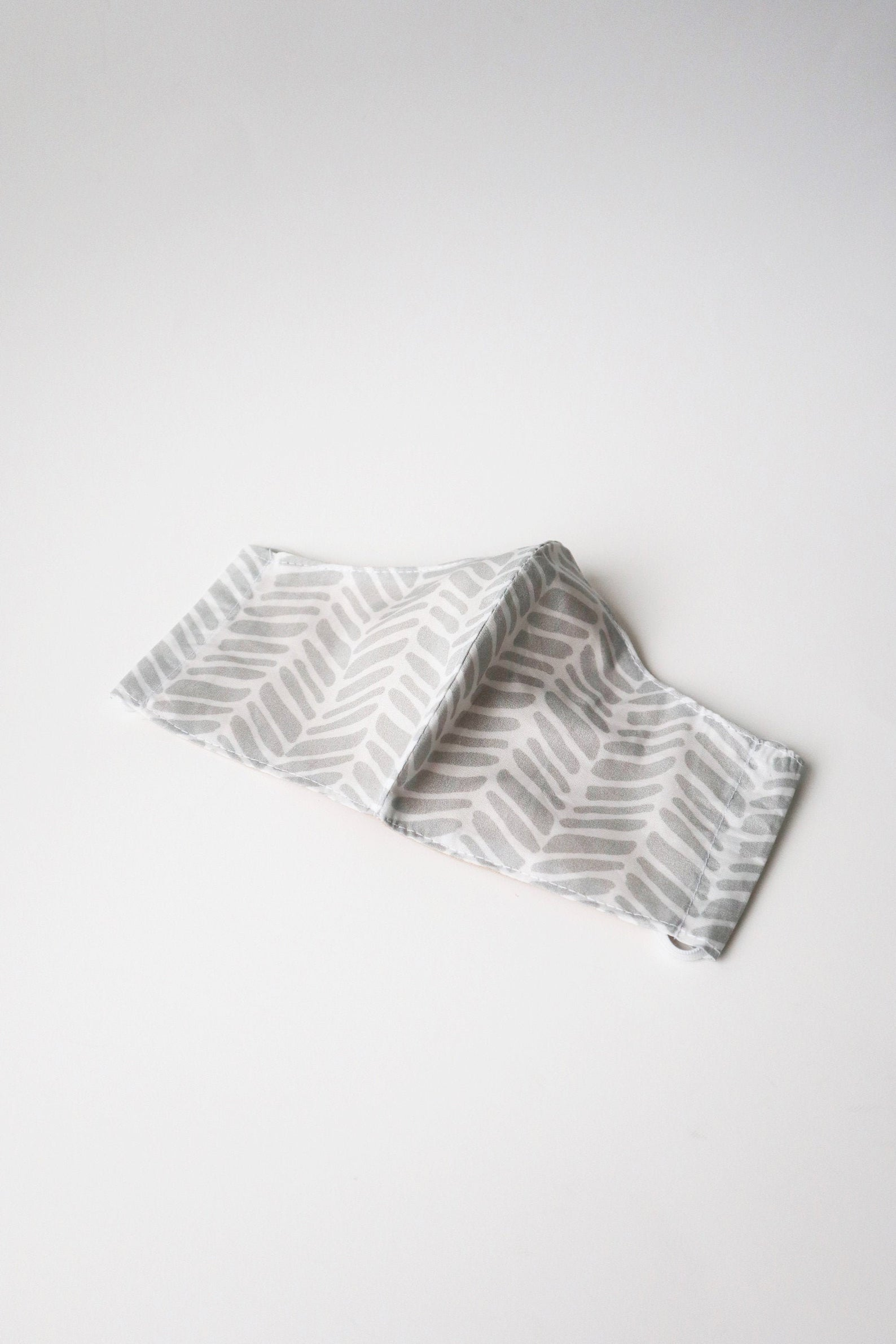 Grey Chevron Cotton Face Mask