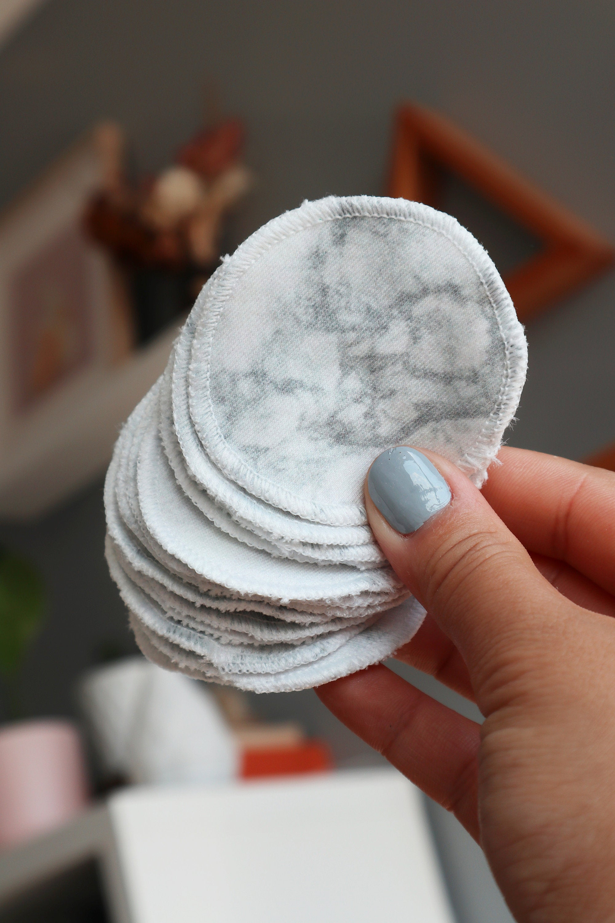Grey Marble Cotton Rounds