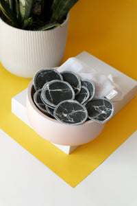 Black Marble Cotton Rounds