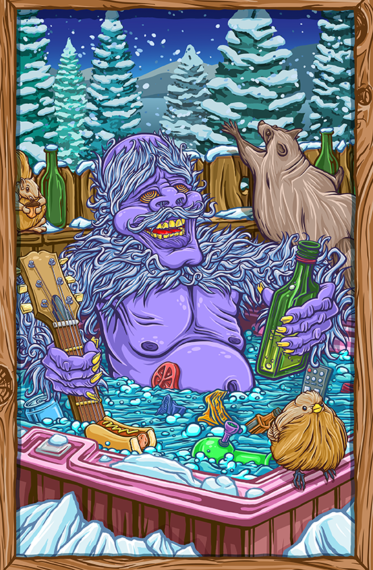 Hot Tub Yeti Canvas