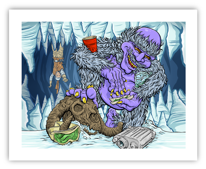 Return of the Yeti Giclée