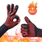 Oven mitts gloves high temperature resistance 1 pairs baking tools kitchen silicone gloves