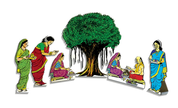 Vat Poornima Festival Cutouts with stand