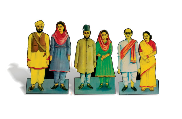 People of India - 9 Wooden Flashcard Cut-outs