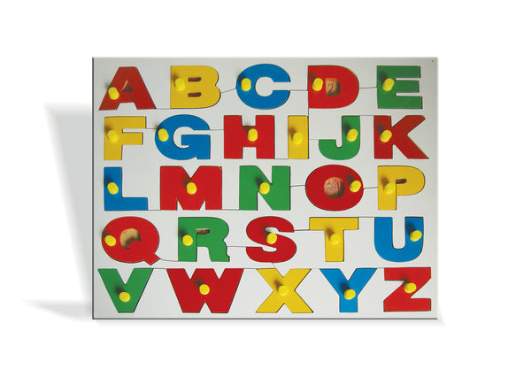 Alphabets tray with knobs - Puzzle - Upper Case