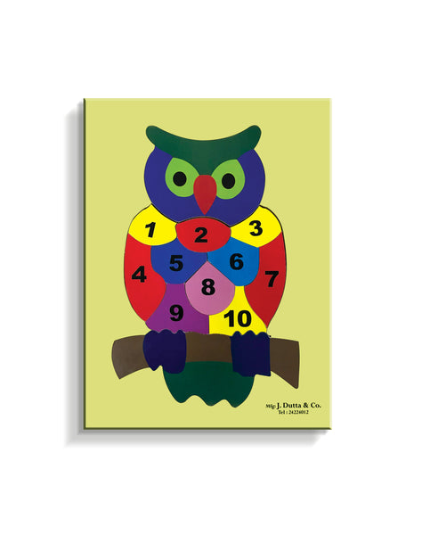 Owl with No. 1 to 10 - Puzzle - English