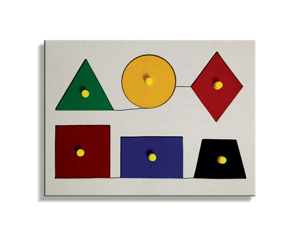 A tray of 6 Geometrical Shapes