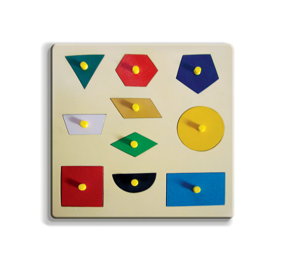 A tray of 10 Geometrical Shapes