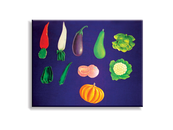 A set of 10 Vegetables (Standard Size) - Wooden Flashcard Cut-outs