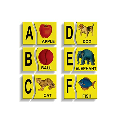 Wooden Alphabet Picture Matching Puzzle (English Letters - Upper Case)