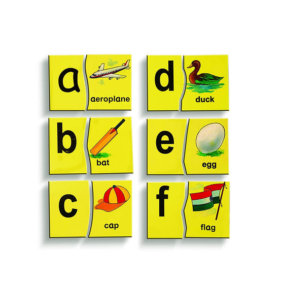 Wooden Alphabet Picture Matching Puzzle (English Letters - Lower Case)