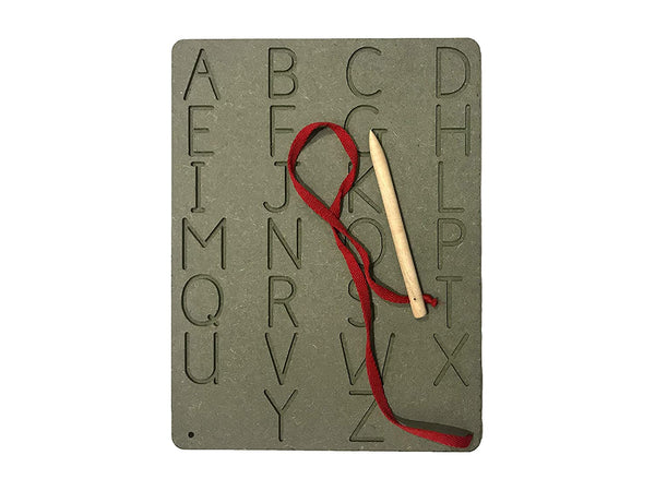 Wooden Letter Writing Practise Board - English Upper Case