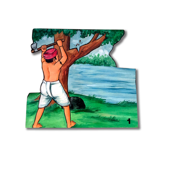 Woodcutter and his Axe - Story Cut-outs