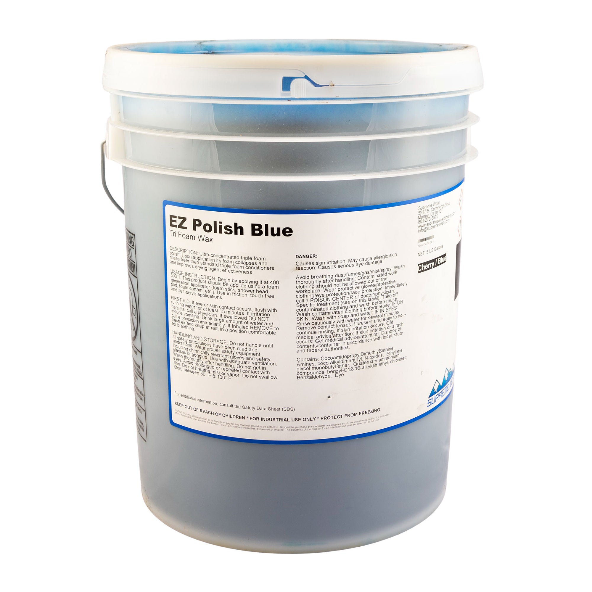 EZ Tri Foam Polish Blue