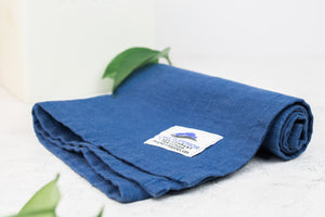 Superior Blue Yoga Towel