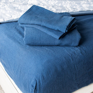 Navy Blue Bed Sheet Set