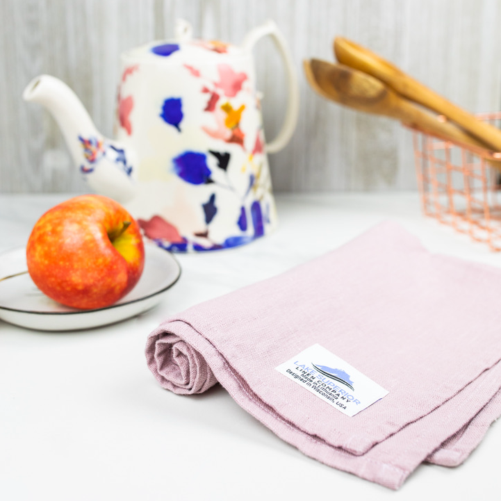Pink Orchid Kitchen Towel