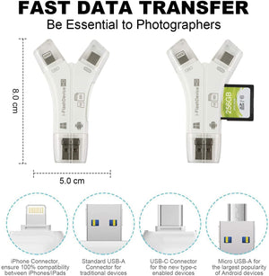 4 in 1 SD Card Reader Memory Card Adapter