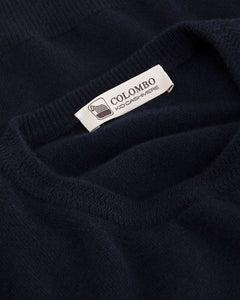 Blue kid cashmere round-neck sweater