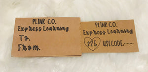 Plink Co. Express Learning Gift Card