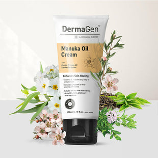 DermaGen Manuka Oil Cream - supports skin healing, soothes rashes & hydrates dry, itchy skin