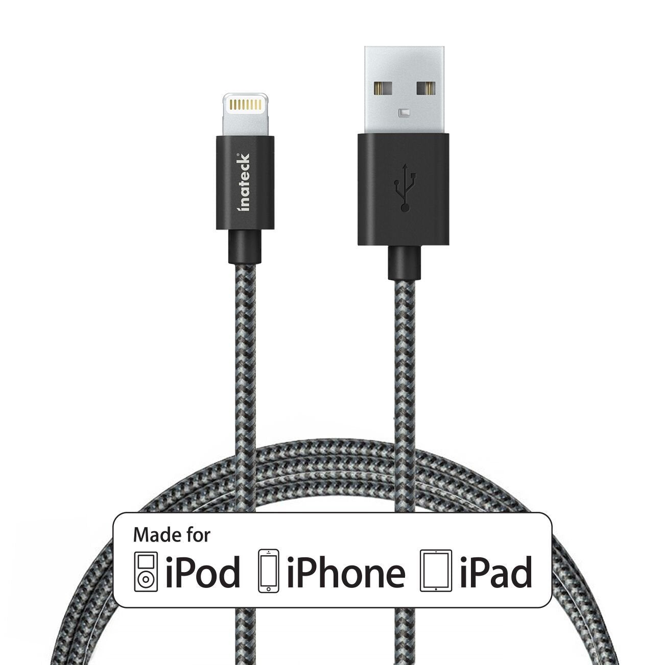 [Apple MFi Certified] 2 Pack of 6ft/1.8m Lightning Cable LG1800B