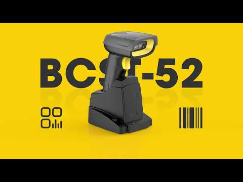BCST-52 2D Wireless Bluetooth® Barcode Scanner with Smart Base