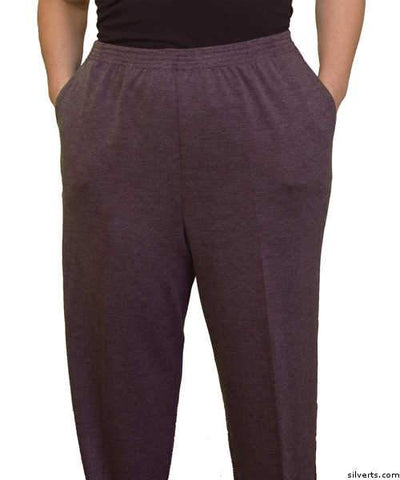 Womens Winter Weight Elastic Waist Pants - Womens Pull On Pants (petite) - Clothes For Mature Ladies - gloriiiluxe-adaptive
