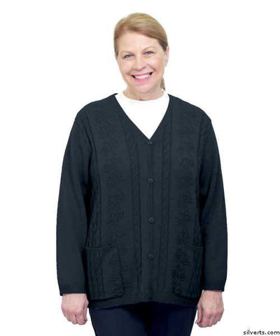 Adaptive Open Back Warm Weight Cardigan Sweater With Pockets - gloriiiluxe-adaptive