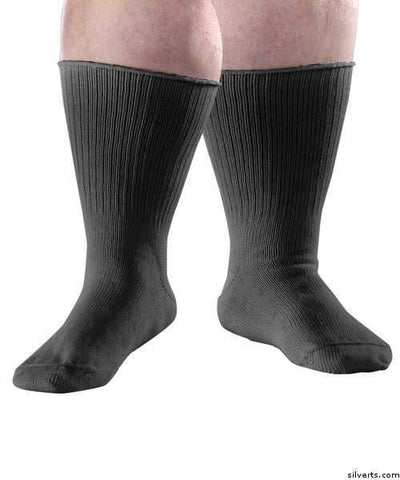 Extra Wide Diabetic Socks - Swollen Feet Stretch Care Socks -  Edema Socks - Unisex - gloriiiluxe-adaptive