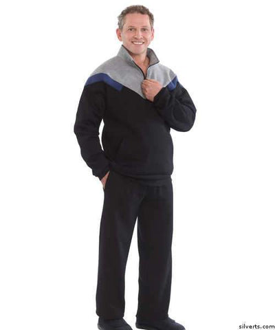 Mens Quality Tracksuits / Sweatsuit - Easy Access Zipper Top - Mens Plus Size Fits Up To 5 Xl - gloriiiluxe-adaptive
