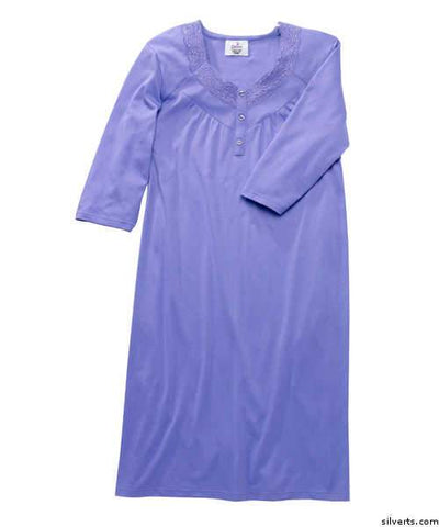 Hospital Gowns - Womens Pretty Hospital Patient Gowns - Open Back - Back Snap Night Gown - gloriiiluxe-adaptive