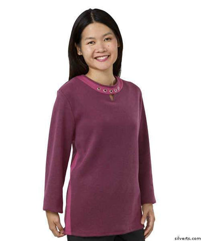 Adaptive Top For Women - Open Back Top For Women - Grommet-Framed Top For Disabled Adults - gloriiiluxe-adaptive