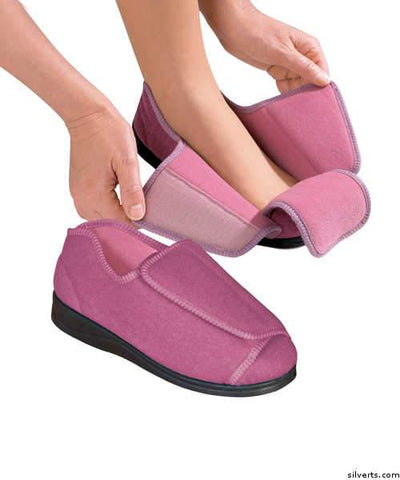 Womens Extra Extra Wide Width Adaptive Slippers - Deep Diabetic & Edema Slippers - gloriiiluxe-adaptive