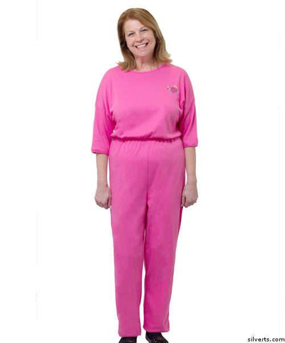 Womens Adaptive Alzheimer's Anti Strip Jumpsuits - Fits Up To 3 Xl - Back Zip Jumpsuits One Piece - Adult Top & Pant Onesie Alzheimer's Clothing - gloriiiluxe-adaptive