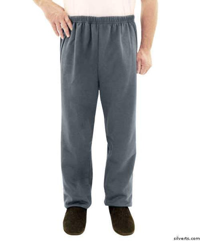 Fleece Adaptive Mens Wheelchair Pants - Disabled Adults - gloriiiluxe-adaptive