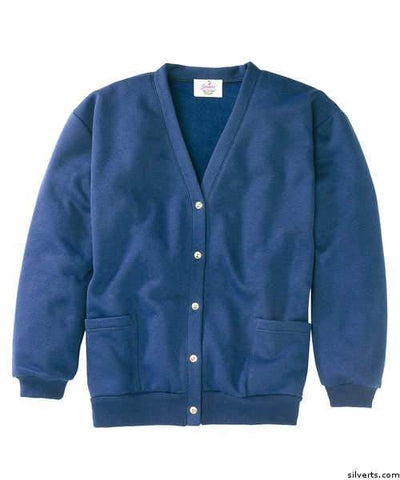 Womens Fleece Cardigan - Two Pocket Button Front Cardigans - gloriiiluxe-adaptive