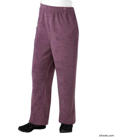 Womens Adaptive Winter Weight Open Back Pants - Nursing Home Wheelchair Pants For Women - gloriiiluxe-adaptive