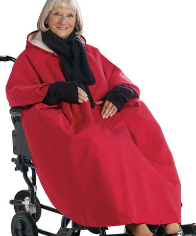 Winter Wheelchair Womens & Mens Cape - Wheelchair Winter Poncho Lined Cape - gloriiiluxe-adaptive